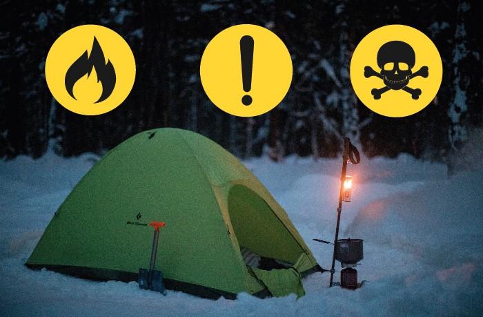 احتیاط هنگام استفاده از وسایل گرمایشی سفری در چادر