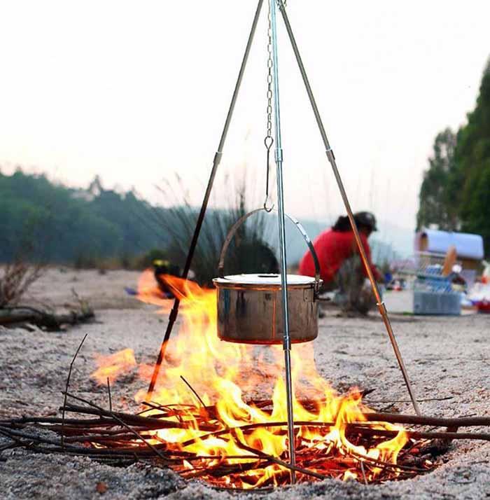 طریقه ساخت سه پایه آتش