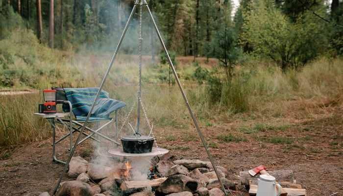 طریقه ساخت سه پایه آتش تاشو