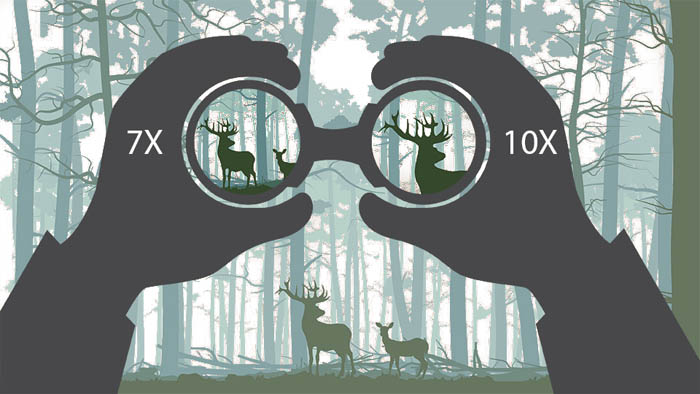 راهنمای خرید دوربین شکاری درباره بزرگنمایی