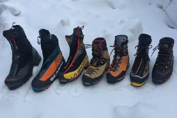 انواع مختلف کفش کوهنوردی