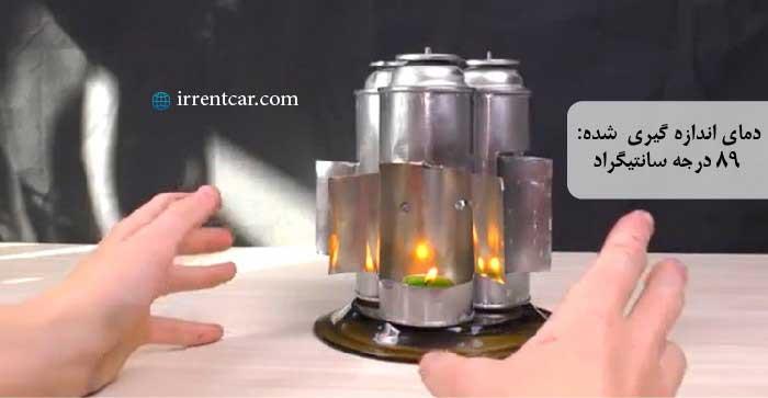 ساخت بخاری سفری با کپسول خالی و شمع