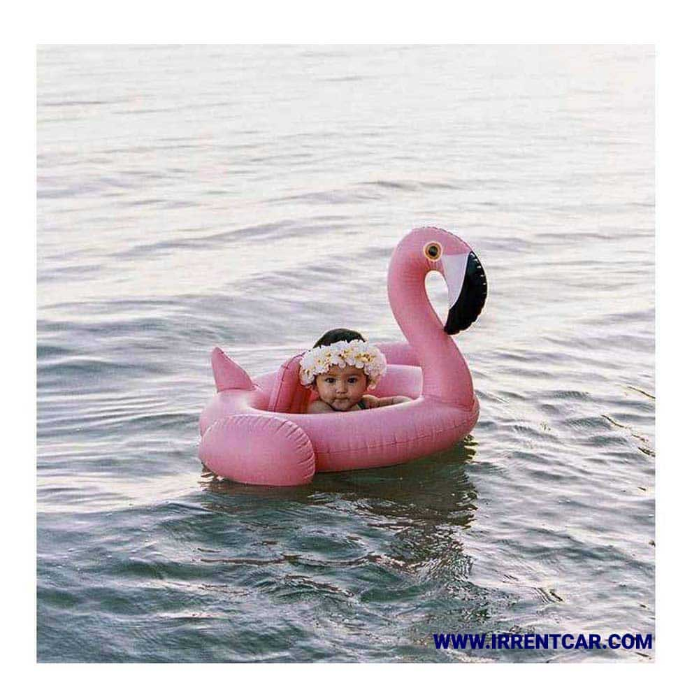قایق بادی دخترانه مدل فلامینگو | خرید قایق موتور بچگانه مدل بادی