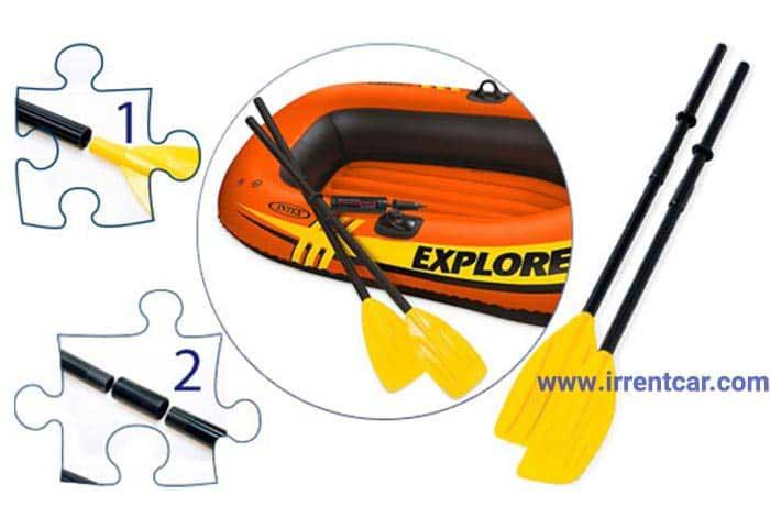 قایق بادی اینتکس مدل Explorer 200 | خرید پاروی قایق بادی