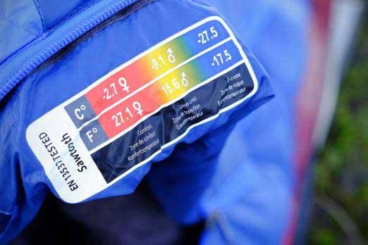 کیسه خواب درجه و دماهای حک بر روی برندهای اروپایی