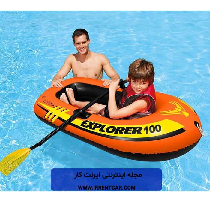 قایق بادی اینتکس مدل Explorer 100؛ قایق بادی یک نفره ی اینتکس