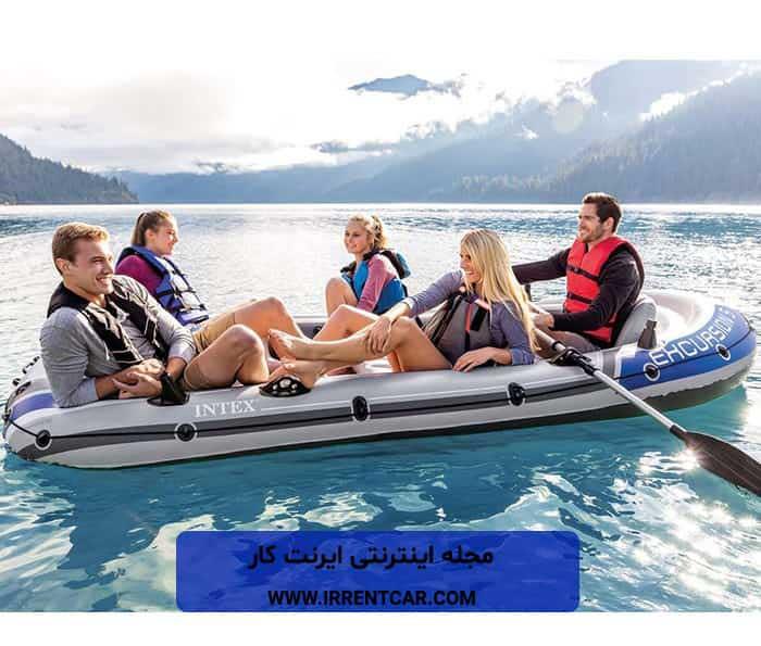 قایق بادی اینتکس 5 نفره | خرید قایق خانوادگی