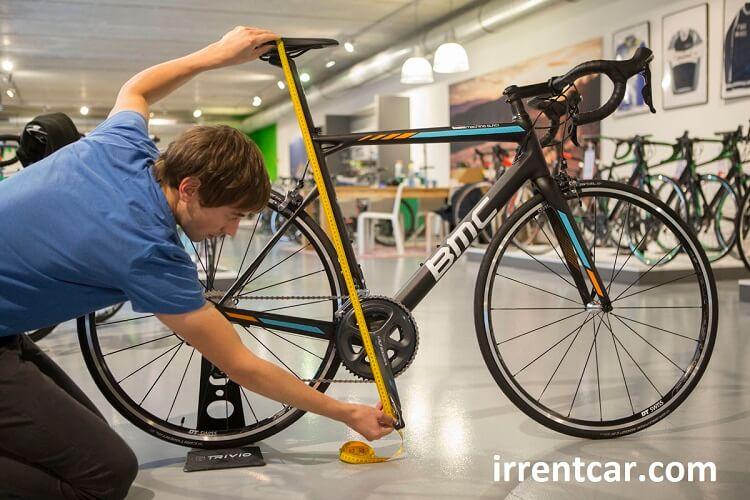 سایز دوچرخه کجا نوشته شده