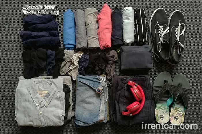 اولین قدم بستن چمدان برای مسافرت