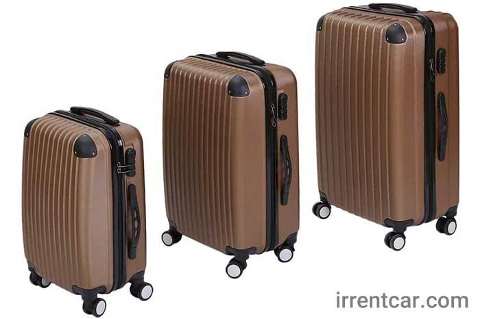 ست چمدان پلی پروپیلن