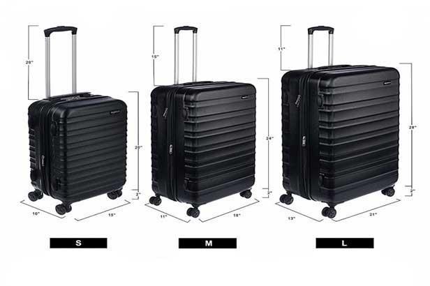 ابعاد چمدان متوسط