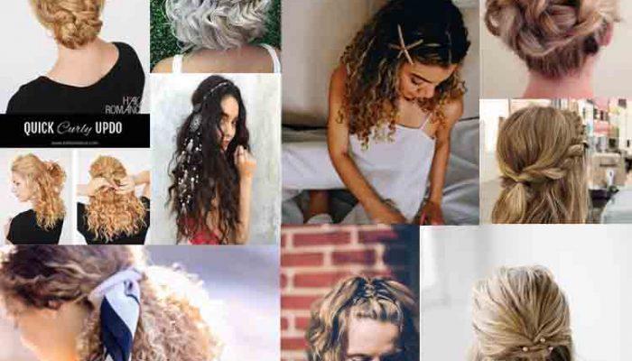 بستن موی فر