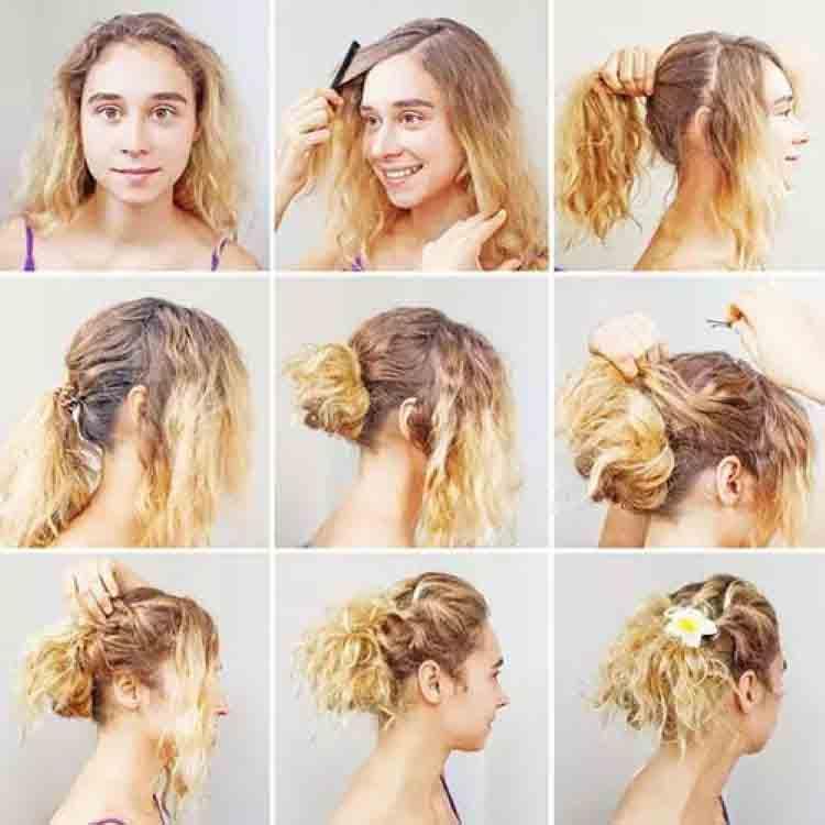 مدل موی فر بسته دخترانه بافت جمع